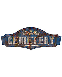 19 Inch Metal Cemetery Sign - Decorations