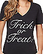 Adult Trick or Treat T Shirt
