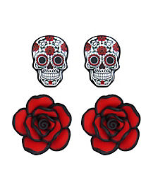 Day of the Dead Earrings 2 Pack