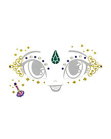 Kids Shimmer Face Decal - Shimmer and Shine