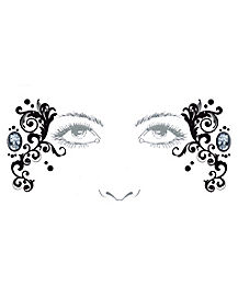 Skeleton Cameo Face Decal