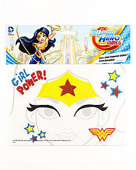 Wonder Woman Face Tattoo - DC Super Hero Girls