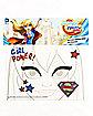 Supergirl Face Tattoo - DC Super Hero Girls