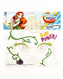 Poision Ivy Face Tattoo - DC Super Hero Girls