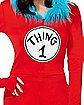 Adult Faux Fur Thing 1 Romper Costume - Dr. Seuss