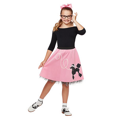 Vintage Style Children's Clothing: Girls, Boys, Baby, Toddler 50s Poodle Skirt $19.99 AT vintagedancer.com