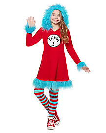 Kids Thing Hooded Dress Costume - Dr. Seuss