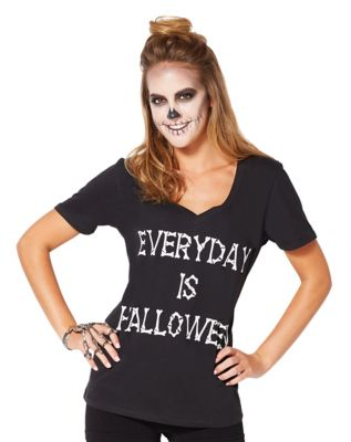 Vintage Retro Halloween Themed Clothing Everyday Is Halloween T Shirt by Spirit Halloween $12.99 AT vintagedancer.com