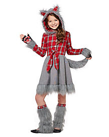 Kids Faux Fur Charming Werewolf Costume