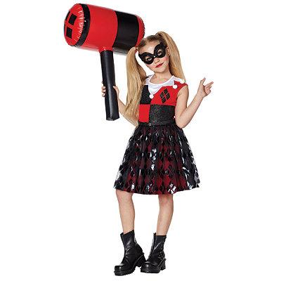 Kids Harley Quinn Costume - DC Girls - Spirithalloween.com