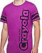 Adult Vivid Violet Purple Crayon T Shirt - Crayola