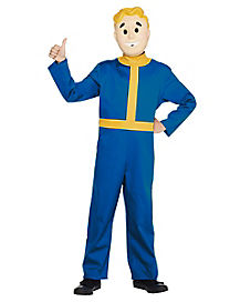 kids vault boy one piece costume fallout