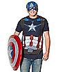 Captain America Sublimated T Shirt - Marvel Comics