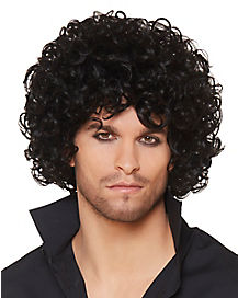 Curly Haired Singer Wig