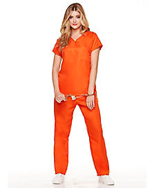 Adult Got Busted Orange Prisoner Costume