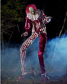 6.5 Ft Towering Creepy Clown Animatronics - Decorations