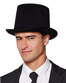 Male Black Top Hat