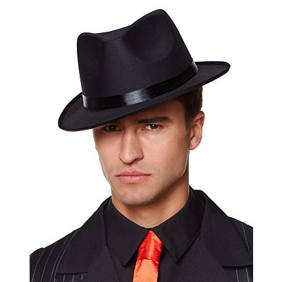 1930s Style Mens Hats Black Fedora $12.99 AT vintagedancer.com