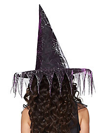 Girls Glitter Witch Hat