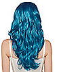 Blue Feather Wig