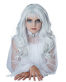 Kids White Ghost Wig