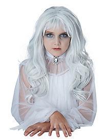 Kids White Ghost Wig
