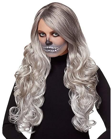 Gray Curly Wig Spirithalloween Com