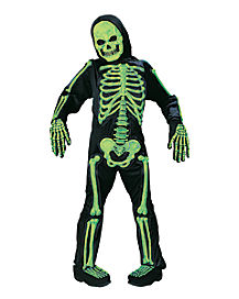 Kids Glow in the Dark Skelebones One Piece Costume