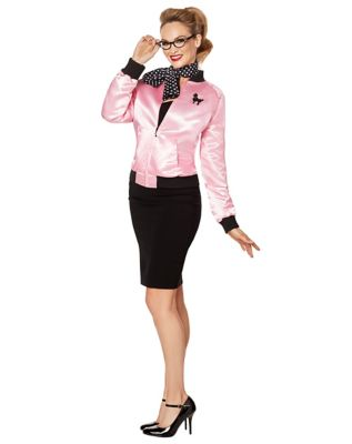 1950s Jackets, Coats, Bolero | Swing, Pin Up, Rockabilly Adult Pink Sweetie Jacket by Spirit Halloween $29.99 AT vintagedancer.com