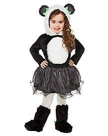 Kids Panda Bear Tutu Costume