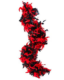 Black and Red 20's Feather Boa