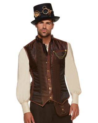 Men's Steampunk Vests, Waistcoats, Corsets Steampunk Vest by Spirit Halloween $49.99 AT vintagedancer.com