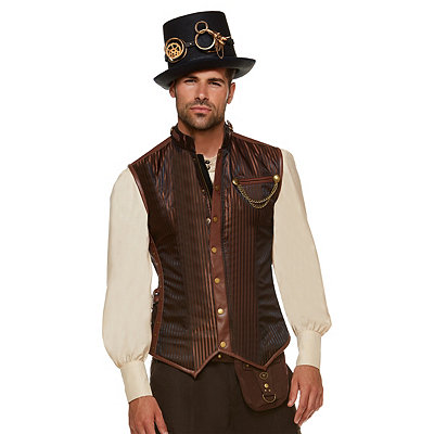 Men's Steampunk Costume Essentials Steampunk Vest $49.99 AT vintagedancer.com
