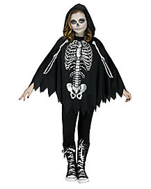 Kids Skeleton Poncho