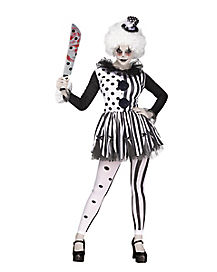 Adult Twisted Trickster Clown Costume