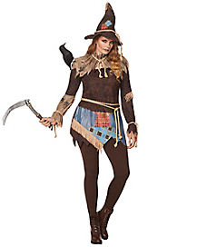 Adut Creepy Scarecrow Costume