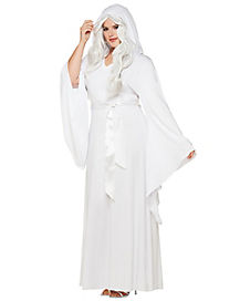 Adult White Hooded Dress