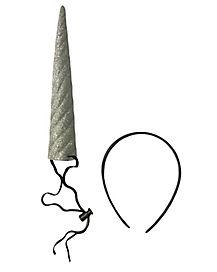 Silver Glitter Unicorn Horn