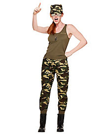 adult army girl costume - Halloween Army Costumes