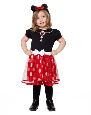 1940s Children's Clothing: Girls, Boys, Baby, Toddler Toddler Minnie Mouse Dress Costume - Disney by Spirit Halloween $24.99 AT vintagedancer.com