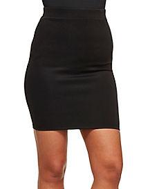 Fitted Black Mini Skirt