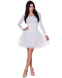Adult White Starter Tutu Dress