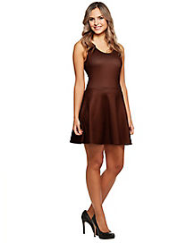 Brown Skater Dress