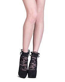 Black Lace Anklet Socks