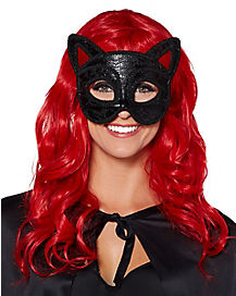 Black Cat Party Eye Mask