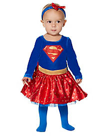Baby Supergirl Dress Costume - DC Comics  sc 1 st  Spirit Halloween & Baby Superhero Halloween Costumes for 2018 - Spirithalloween.com