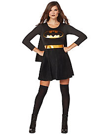 Adult Black and Gold Batgirl Dress - DC Comics