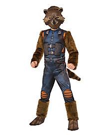 Kids Faux Fur Rocket Raccoon Costume - Guardians of the Galaxy