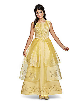 Adult Belle Costume Deluxe - Beauty and the Beast Movie