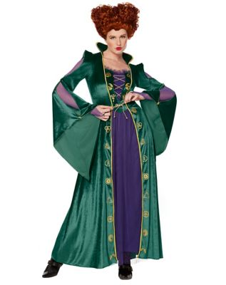 Victorian Costumes: Dresses, Saloon Girls, Southern Belle, Witch Adult Winifred Sanderson Costume - Hocus Pocus $54.99 AT vintagedancer.com